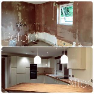 Kitchen before:after